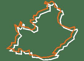 Map tracé orange et blanc de PACA - Fédération des CSFC