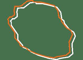 CSFC Région île de la Réunion map orange et blanche - Fédération des CSFC